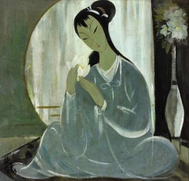 林风眠《仕女》布面油画 61×64cm