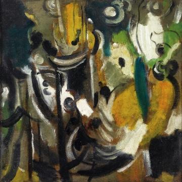 吴大羽《采韵》 布面油画 40x40cm 1950年代后期