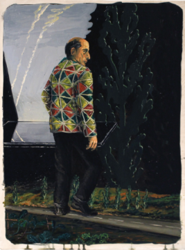 蒂亚戈·巴布缇斯塔 《马路对面》 70.5×52.5cm木板油画2015