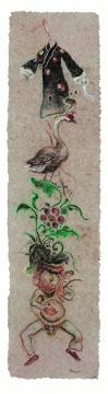 《富贵衣》200×50㎝ 纸本色粉 2014