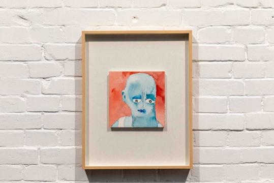 《赤(头像)》 20×20 cm 纸上铅笔与水彩 2020