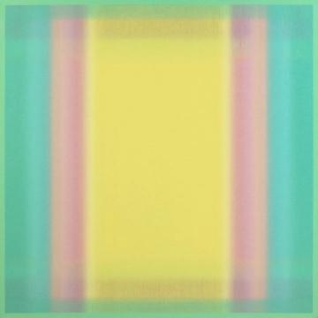 《Superposition No.8》,135 x 135 cm,布面丙烯,2018