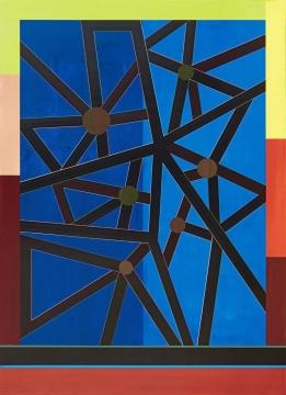 《City Entanglement》,200x 145cm,布面丙烯,2018