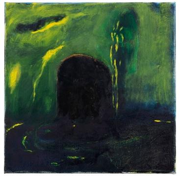 《无题(夜晚)》40×40cm布面油画2020