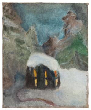 《雪屋》53×65cm 布面油画 2020