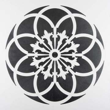 《镜子十八号》,101 x 101 cm,纸上铅笔裱木板,2015