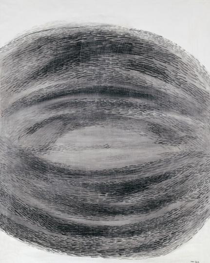 余友涵《抽象1985-3》130×160cm 布面丙烯 1985