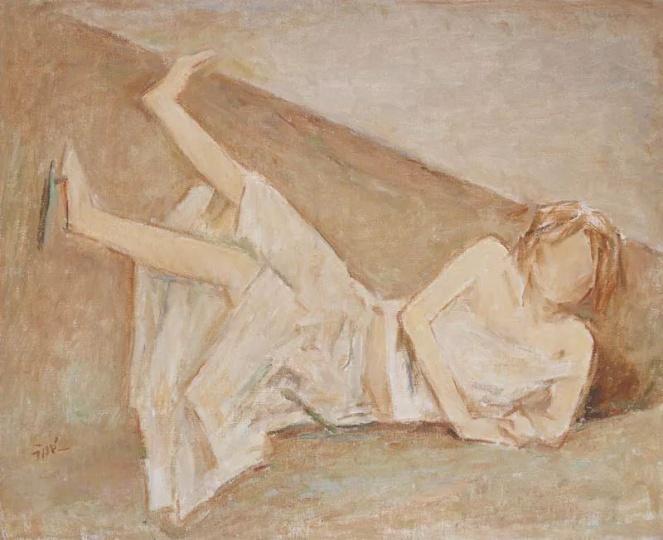 汪诚一 《阳光女孩之一》 54cm×65cm布面油画 2007