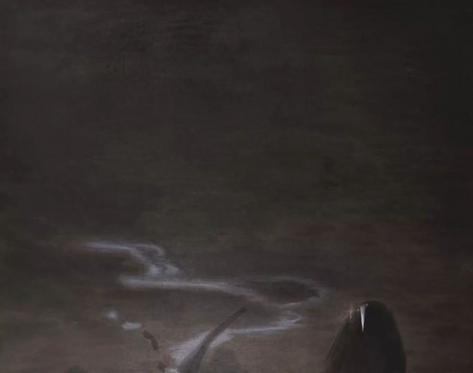 任戬《天地冥之-状物之神》100×120cm布面油画 1985
