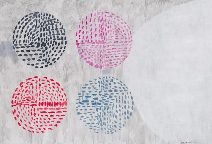 余友涵 《2019-2-4》157×230.5cm 布面丙烯2019