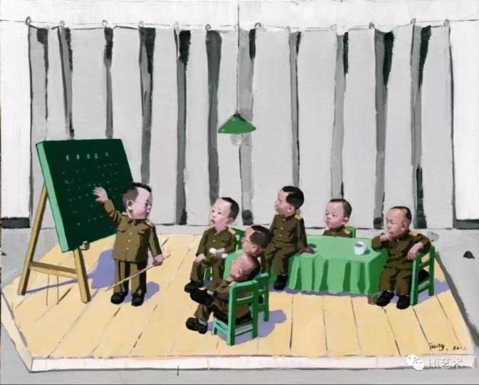 唐志冈 《黑板》 162×130cm 布面油画 2012