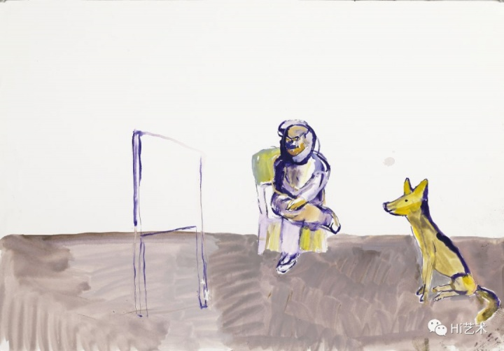 唐志冈 《一个儿童的叛逆史- 36》79×55cm 纸本水粉 2018