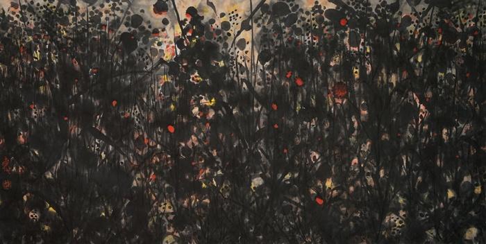 刘巨德 《乡愁草》68cm×136cm 水墨纸本设色 2010