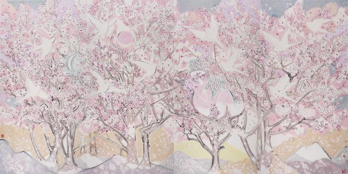 刘巨德 《夹子的春天》 250cm×501cm水墨纸本设色2017