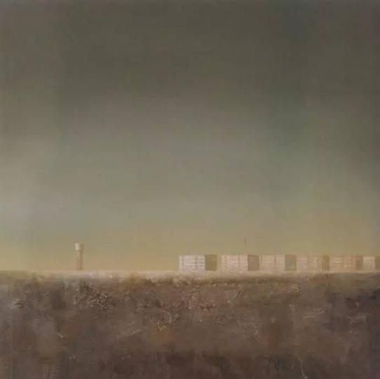 陈文骥 《无言等待》 140cm×140cm 布上油画 1999