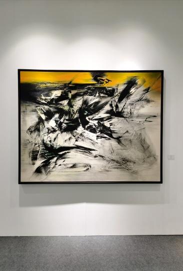 在亚洲艺术中心上海空间有新展的杨识宏的作品得到了很多问询,价格在100万元以下。