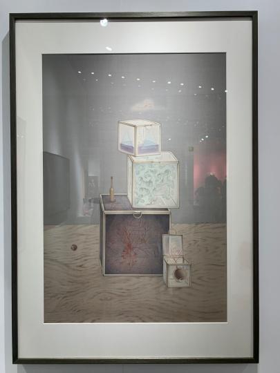 张小黎水墨作品,价格在10万元以上。据悉艺术家作品非常抢手,孙彤表示自己对卖给什么样的藏家也十分慎重。