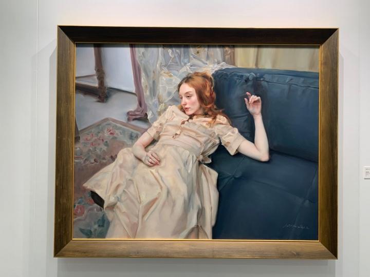 庞茂琨作品,100万元以上,为千高原展位最贵的作品。