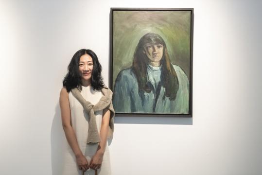 刘锋植 《无题》 80×60cm布面油画 1990年代  画中人是刘锋植的学生