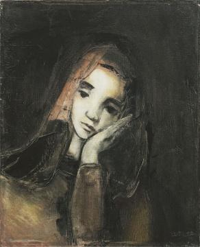刘锋植 《女孩》 61×50cm 布面油画 1995