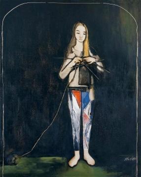刘锋植 《妻子》 182×145cm 布面油画 1996