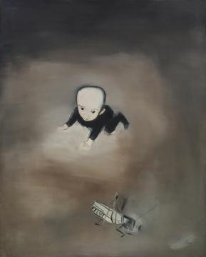 刘锋植 《小儿如蝌蚪》182×145cm 布面油画 2000