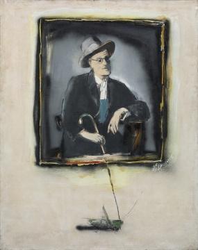 刘锋植 《乔伊斯》180×145cm 布面油画 2006