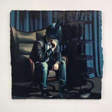 《演讲者》 60 x 62 cm 布面油画 2020