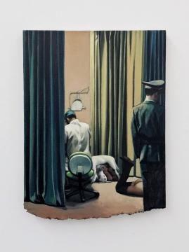 《医生,网红与警察》 52 x 40 cm 布面油画 2020