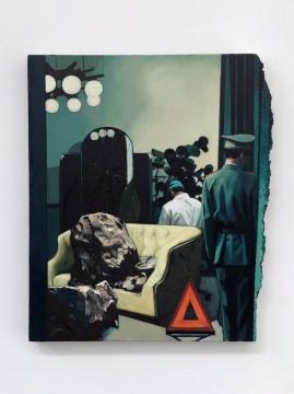 《周公解梦》50 x 42cm 布面油画 2020