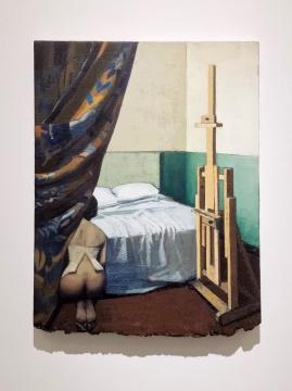 《一个故事》 52 x 40 cm 布面油画 2020