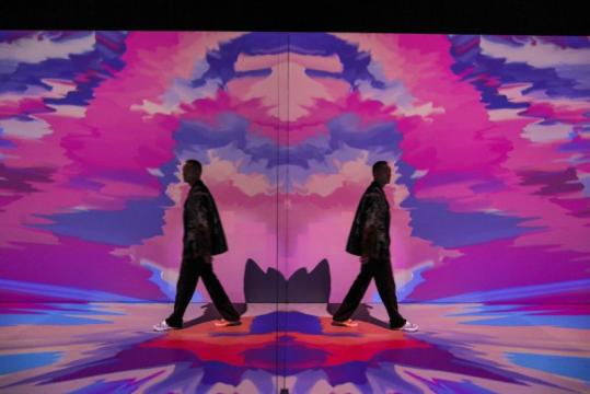 """""""唤醒万物——百度AI沉浸式互动艺术体验展""""展览现场,UCCA尤伦斯当代艺术中心UCCA Lab"""