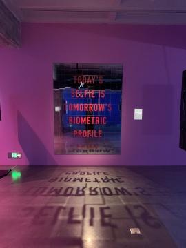 亚当·哈维 《思考隐私》 180×240cm 镜砖 2020