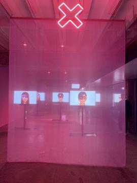 !比特族媒体小组《阿什莉·麦迪逊天使在北京》 5屏有声影像装置 约8分钟 2020