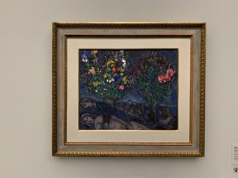 马克·夏加尔《梦境》38×46cm 纸板油画 1980