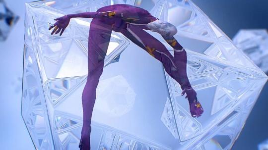 《舞蹈,2020,ADIDAS》 先锋艺术家叶凌瀚,虚拟与现实交错的幻影虚境,赋予冬季运动无限可能的想象空间