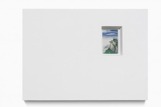 《风景画像-吉兰达约 02 B》 画10.5x6.8cm、雕塑 40x55x8cm 石膏上水彩 2020