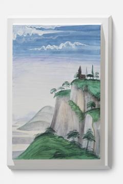 《风景画像-吉兰达约 02 A》 画44.5x29x10cm 、雕塑56.5x37.5x10cm 石膏上水彩 2020