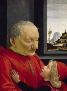 吉兰达约 《老人与男孩的肖像》