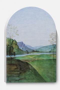 《风景画像-佩鲁吉诺 01 A》 画83.5x55x4cm 、雕塑85.5x56x4cm 石膏上水彩 2020