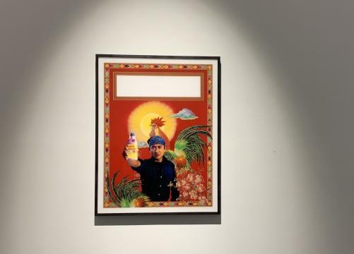 《金色男孩儿海报(巴格斯韦德教堂中的海德格尔)》76×104cmC-Print1986/1991
