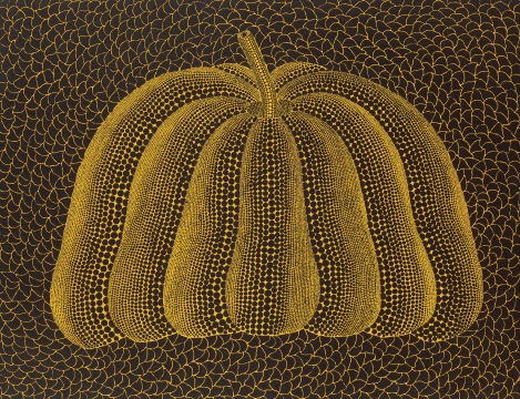 间弥生 《A-PUMPKIN-SPW》 112 x 145.5cm 压克力 画布 2014  港元 9,000,000 – 15,000,000