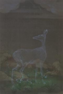 郝量 《幽鸣》 89.5 x 60cm 绢本 重彩 2011  港元 2,800,000 – 4,800,000