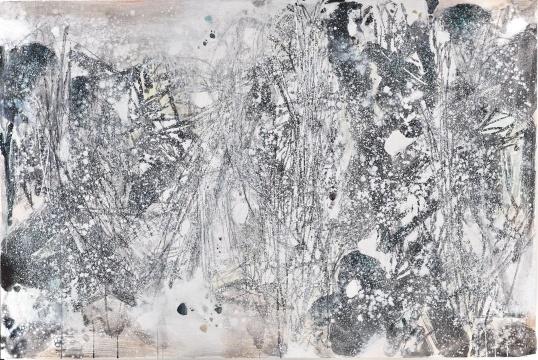 朱德群 《白色森林之一》130 x 195.5 cm 油彩 画布 1987 港元35,000,000 – 55,000,000