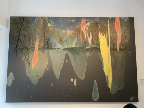 陈可 《某月某日雨》 200 x 300cm 综合材料 画布 2015港元 900,000 – 1,800,000