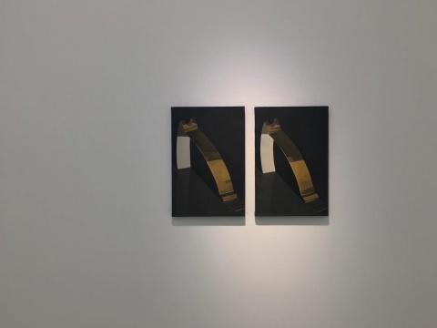 刘聪 《 一对》60×40cm×2 布面油画 2017-2020