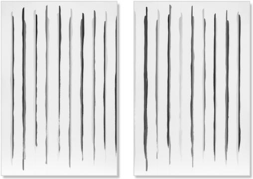 刘国强 《奇数与偶数系列》150 ×100 cm × 2 丙烯综合材料 2020