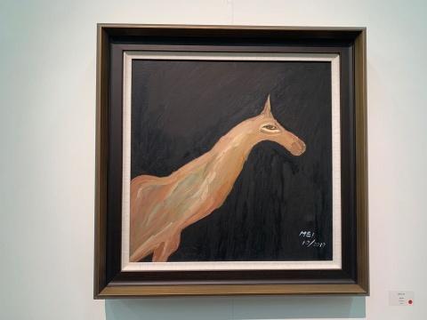 《都灵之马》60×60cm 布面丙稀2019