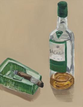 """《""""东北""""系列–威士忌和雪茄》 65×50cm布面油画2020"""