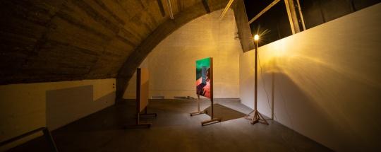 仇晓飞 《光中影中光》尺寸可变 木板油画及综合材料 2012